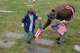 Grave Marker Flags Scouts Honor Veterans With Flags At Mountain View Cemetery