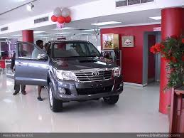 toyota showroom new 2012 hilux arrives in the toyota showroom trinituner com