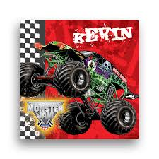 grave digger monster truck poster monster jam grave digger 16 x 16 canvas wall art tv s toy box