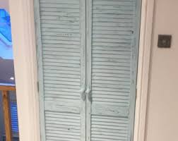 Shutters For Doors Interior Distressed Shutters Etsy