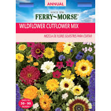 flower seed packets ferry morse wildflower cut flower mixture seed 2183 the home depot