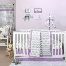 girls purple bedding the peanut shell 4 piece baby crib bedding set grey