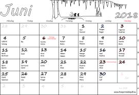 Kalender 2018 Helgdagar Juni 2018 Namnsdagar Veckonummer Gratis Utskrivbara Pdf