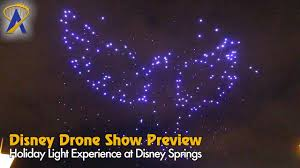 disney drone light show exclusive preview of christmas drone aerial show rehearsal at disney