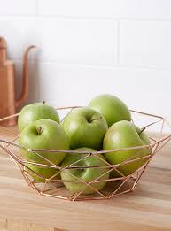 metal fruit basket decorative fruit bowls and baskets for the table online simons