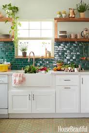 Green Tile Kitchen Backsplash by 770 Best Get In My Kitchen Images On Pinterest Kitchen Ceramics