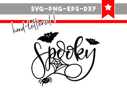 spooky svg file fall svg halloween svg hand lettering spider
