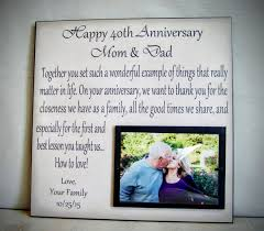 25 year anniversary gift ideas for anniversary gift for parents anniversary