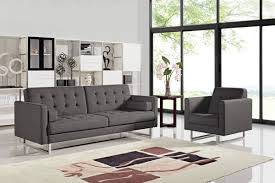 Modern Fabric Sofa Sets Casa Bauxite Modern Grey Fabric Sofa Bed