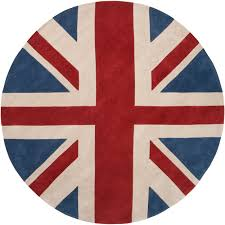 hand tufted red hillsborough east union jack rug 8 u0027 round free