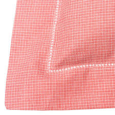 check baby linen red check cot bed duvet cover