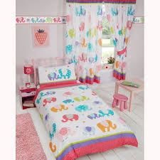 Wallpaper Borders For Girls Bedroom Patchwork Elephant Stars Matching Bedding Sets Curtains Wallpaper