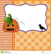 blank template for halloween pumpkin crow postcard royalty free