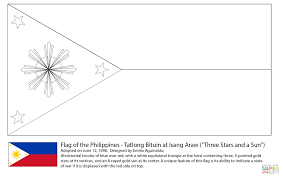 Flag Philippines Picture Flag Of The Philippines Coloring Page Free Printable Coloring Pages