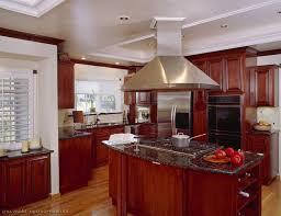 cherry mahogany kitchen cabinets dark cherry wood kitchen cabinets beige granite kitchen countertops