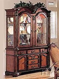 Oak Buffet And Hutch by Amazon Com Coaster Furniture 103114 Andrea Dining China Hutch