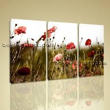 poppy home decor contemporary floral wall art poppy flower canvas print home decor