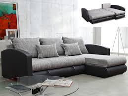 vente unique com canapé canapé d angle convertible simili et tissu 2 coloris piana