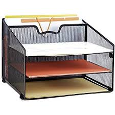 File Desk Organizer Proaid Mesh Office Desktop Accessories Organizer