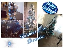 tree decoration blue silver