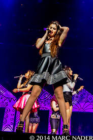 fifth harmony performing on the neon lights tour at the palace of