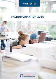 fachbereich architektur fachinformation 2016 by fachbereich - Architektur Studiengã Nge