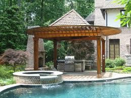 perfect outdoor kitchen pergola have bluestone patio linear fire