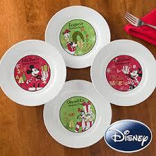 christmas plates personalized disney christmas plates mickey minnie goofy