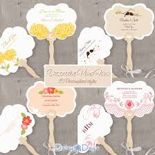 Hand Fan Wedding Programs Wedding Favors