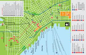 Seattle Map Free Printable Maps by Seattle Map With Landmarks