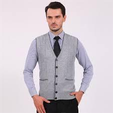 2015 new fashion solid wool v neck men cardigan sweater vest