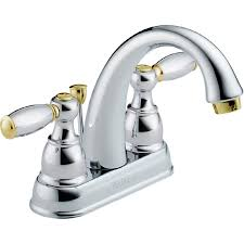 Peerless Kitchen Faucet Reviews Shop Peerless Chrome Brass 2 Handle 4 In Centerset Bathroom Faucet