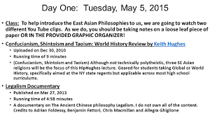 2015 academic a east asian philosophies lesson plan date and