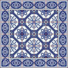 gorgeous seamless pattern from tiles and border moroccan