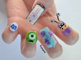 character related nails art of being a teen