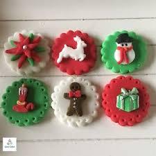 Christmas Cake Decorations Edible by Edible Christmas Decorations Ebay