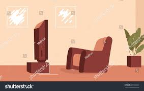 digital vector modern living room interior stock vector 679450690