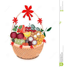 healthy food gift baskets health and nutrition fruit in gift basket royalty free stock photo