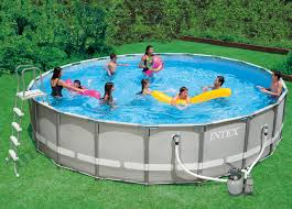 intex swimming pools 1 15 ft round 48 in deep metal