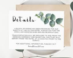 wedding invitation inserts invitation insert etsy