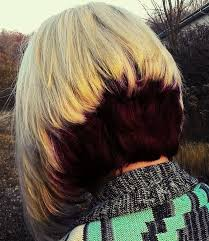 difference between stacked and layered hair two tone stacked bob inverted bob haircut with blonde and 5vv