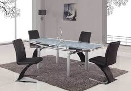 foldable dining table with silver legs global furniture usa