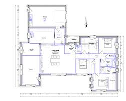 plan de maison de plain pied avec 4 chambres ides de plan maison 150m2 plain pied galerie dimages