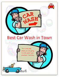 car wash flyer template brochure templates