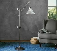 Pulley Floor Lamp Black Iron Task Floor Lamp