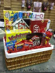 Game Night Gift Basket Great Gift Basket Idea Board Games Cards And Snacks Gifts
