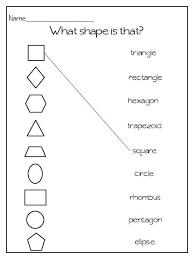 shapes worksheet first grade worksheets