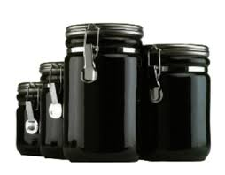 black canister sets for kitchen anchor 03923mr 4 ceramic canister set w wood spoon chrome