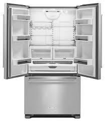 kitchen aid kitchenaid stainless french door refrigerator krfc302ess