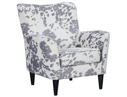 Accent Chairs Black And White Slumberland Cora Collection Black Cow Print Accent Chair